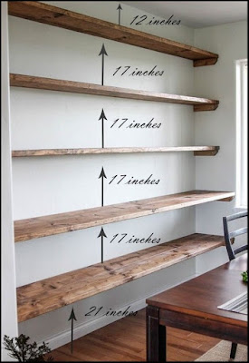 DIY shelves wall Family rooms