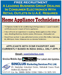 Home Appliance Technicians for UAE