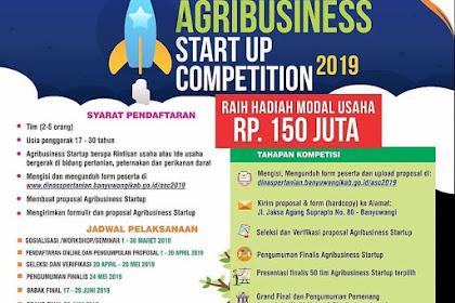 Lomba Ide Usaha Agribusiness Start Up Competition 2019 Umum Gratis