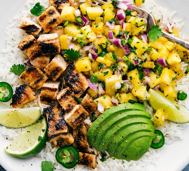 PINEAPPLE CHICKEN #healthy #fitness