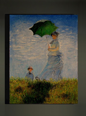 woman with a parasol. Monet