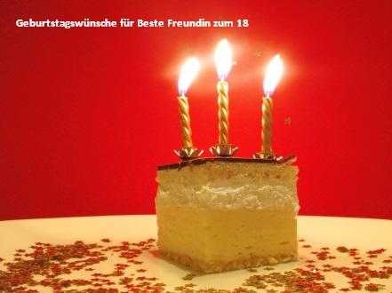 Geburtstagswünsche für Beste Freundin zum 18