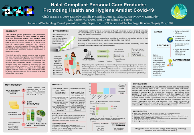 Halal personal care research tops  2021 MMHRDC poster competition: STD-ITDI bests 20 agencies