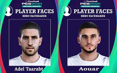 PES 2021 Faces Aouar & Taarabt by Bebo