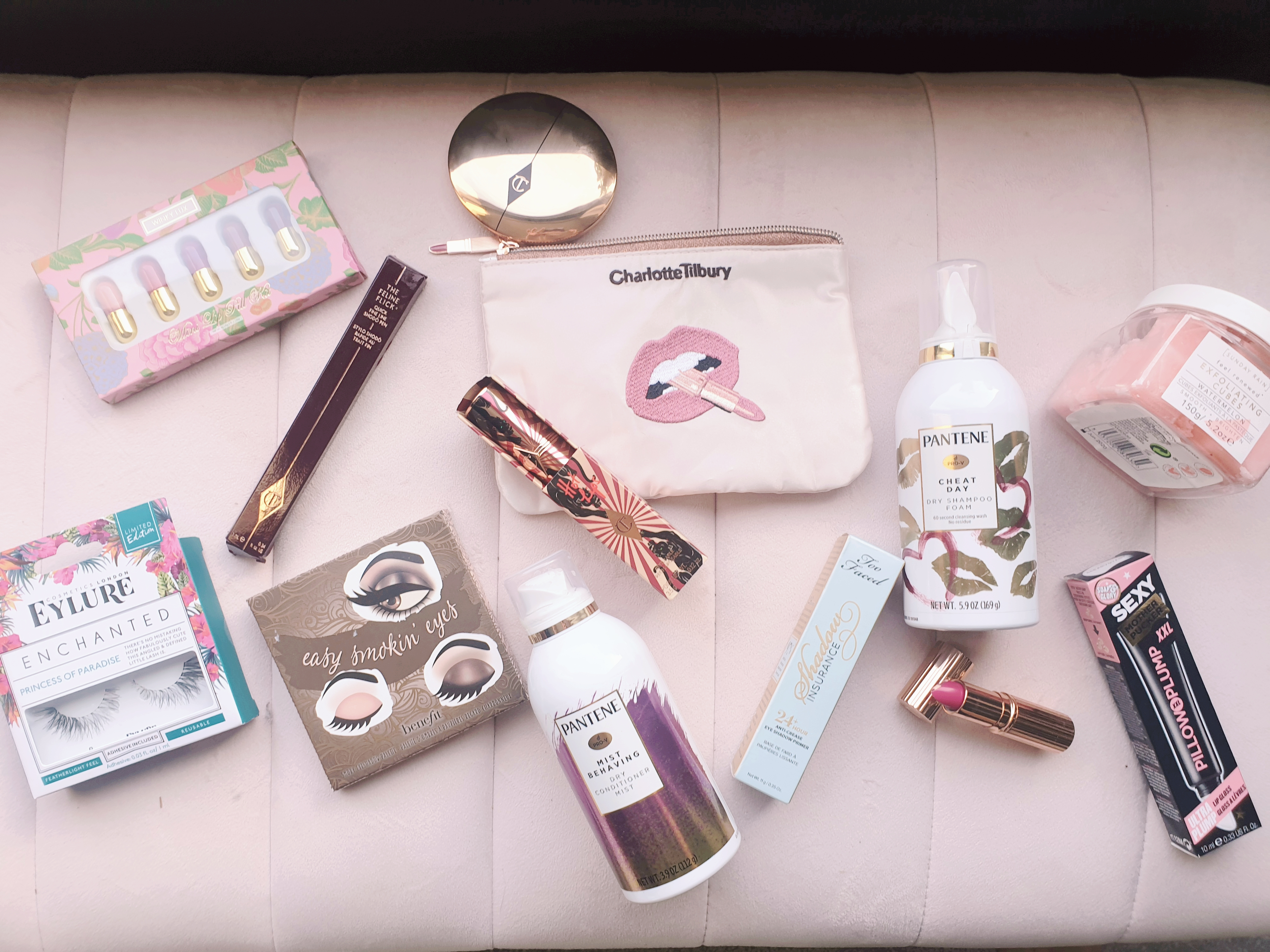 Beauty haul Charlotte Tilbury Ciate Soap and Glory Pantene Eylure