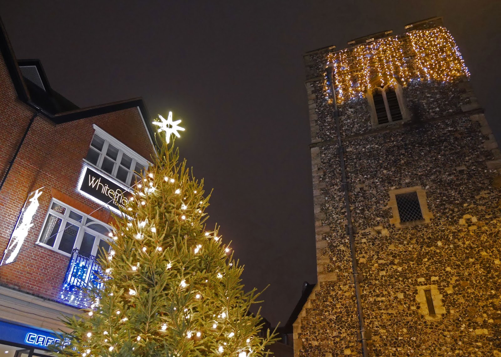 Christmas tree at Whitefriars, Canterbury