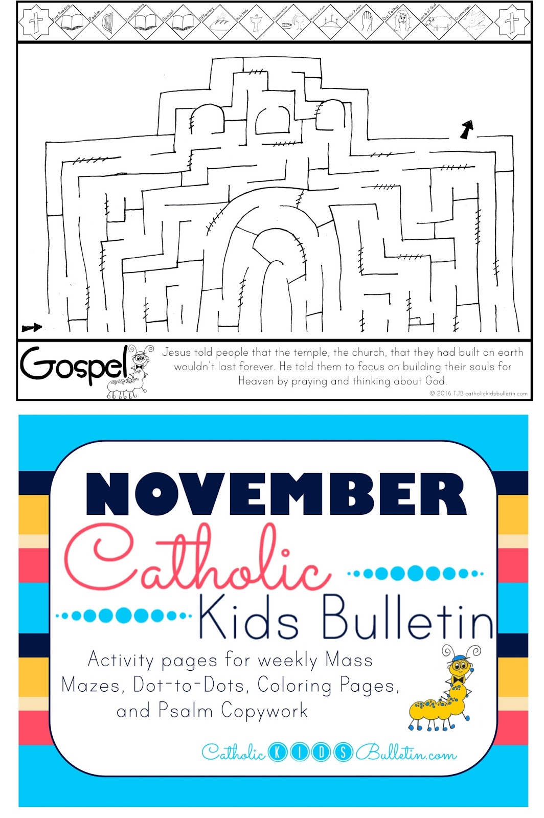 Catholic Kids Bulletin: Weekly Mass Prep for Kids! Luke 21:5-19