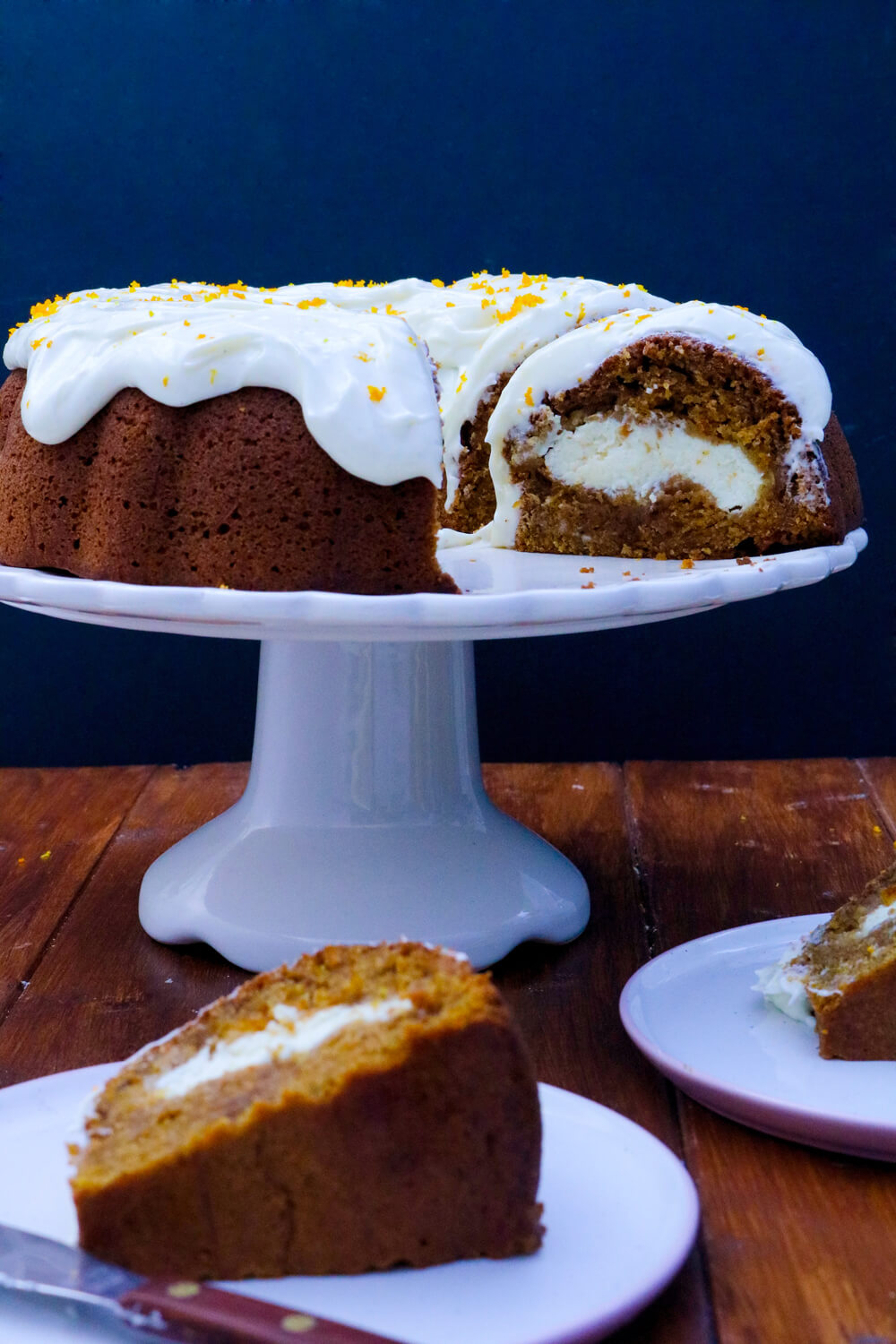 Carrot Bundt Cake with a Cheesecake Filling | Take Some Whisks