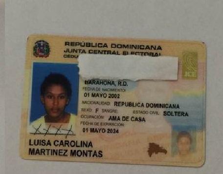 Barahona: La joven Luisa Carolina Martínez Montás está desaparecida