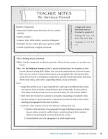 Language Arts Comprehension Check: Ten Sentence Format cover