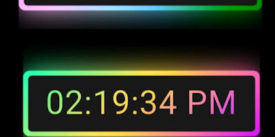 Running Digital Clock with Colorful Glowing Effect with HTML CSS & JavaScript
