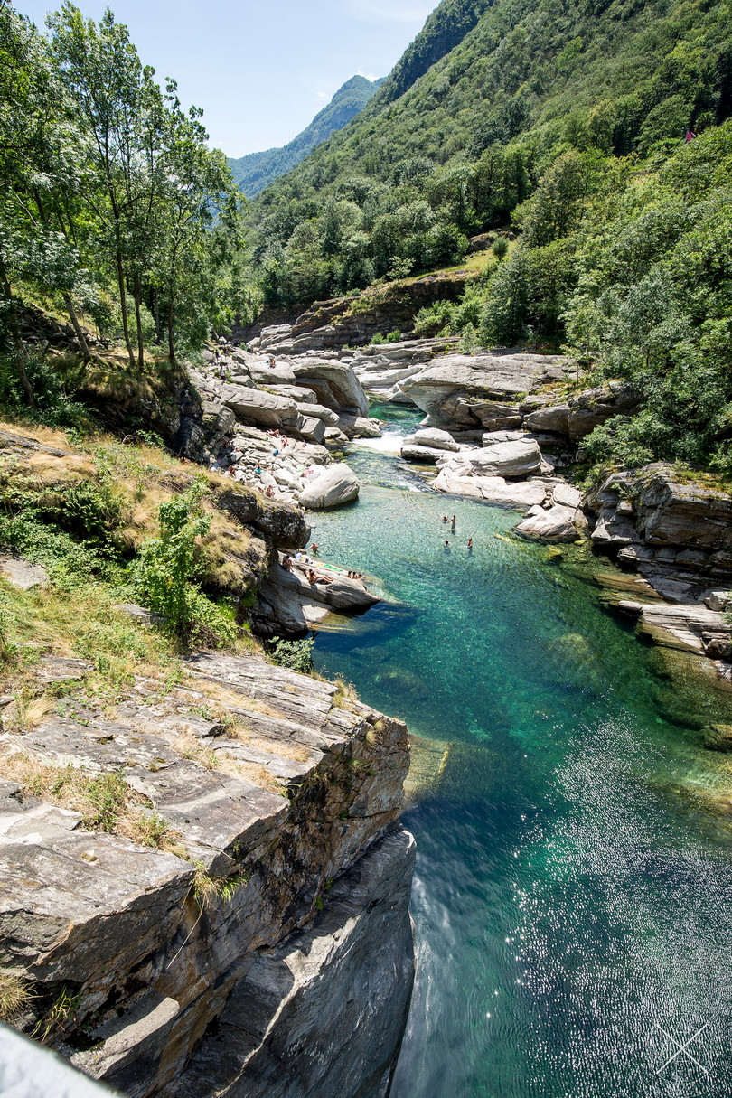 Verzasca River a crystal clear river