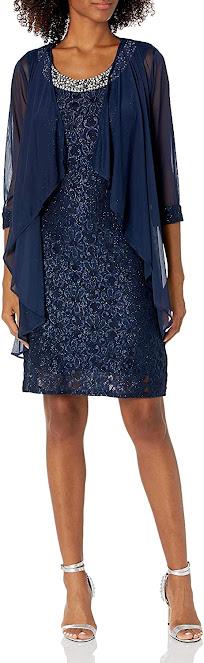Short Navy Blue Mother of The Groom Dresses