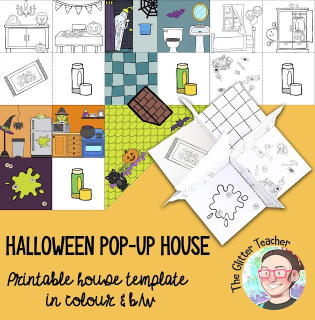 Imprimible para Halloween. Casita terrorífica
