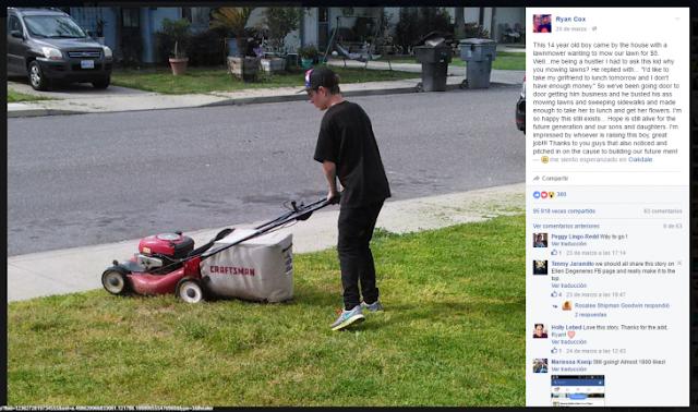 Imagen se vuelve viral de un chico trabajando