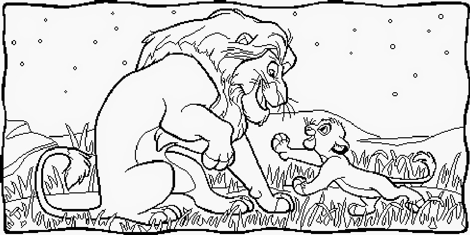 coloring pages for lion king | FUN & LEARN : Free worksheets for kid: ภาพระบายสี The Lion ...