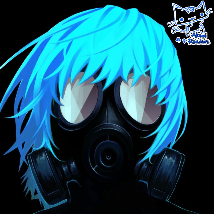 render chico máscara de gas