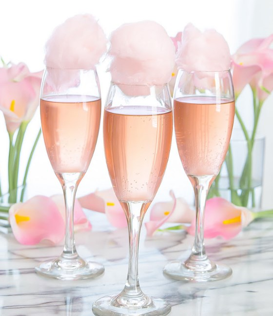 Cotton Candy Champagne Cocktails #freshdrink #cocktail