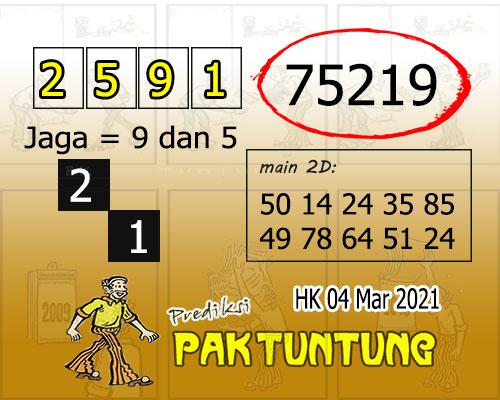 Syair HK Kamis 04 Maret 2021 -