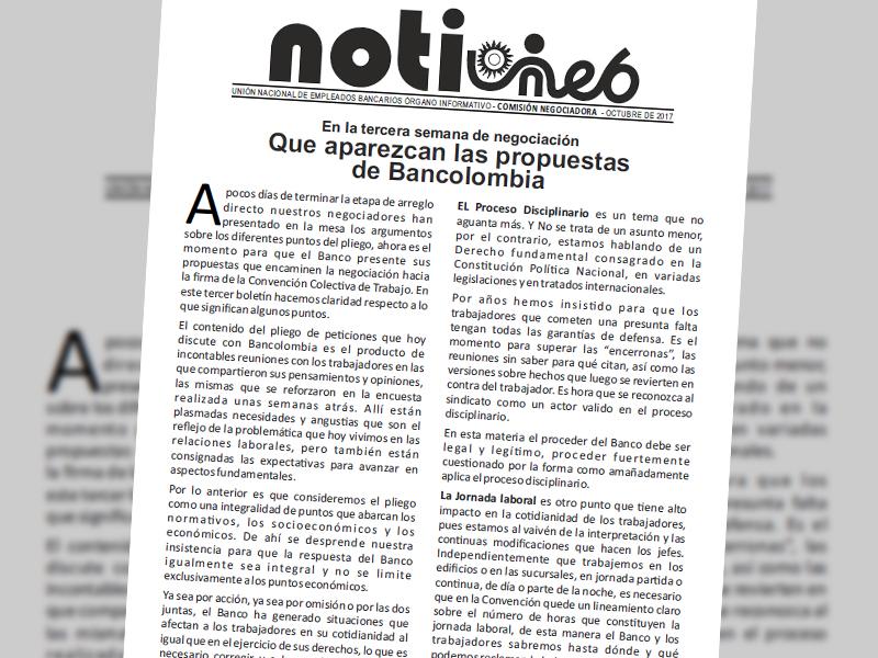 Notiuneb Bancolombia Octubre