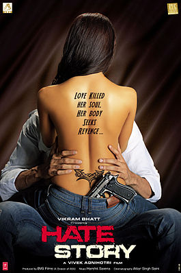 Poster of Hate Story 2012 UnCut 720p Hindi DVDRip Full Movie Download