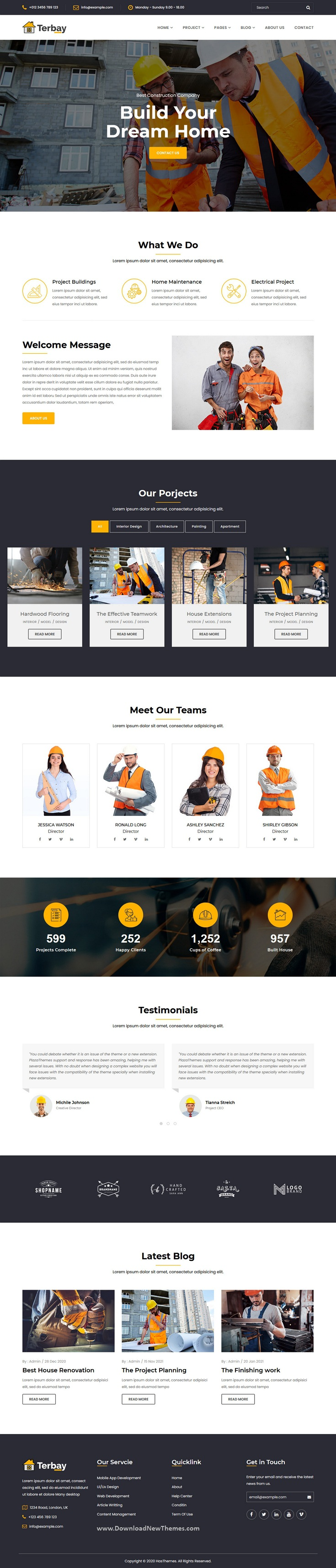 Construction Bootstrap5 Template