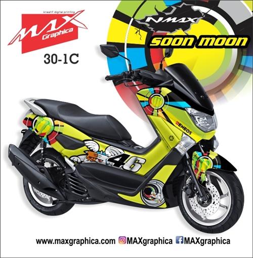 Sticker decal NMAX Soon Moon