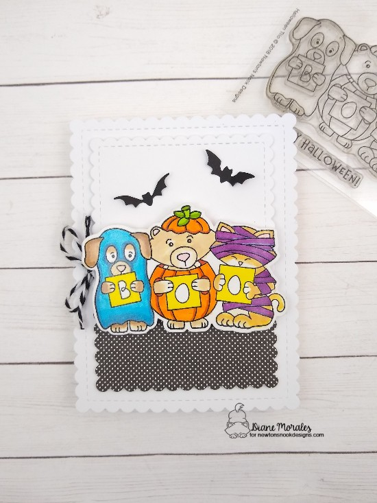 Boo by Diane features Halloween Trio, Framework, and Frames & Flags by Newton's Nook Designs; #newtonsnook