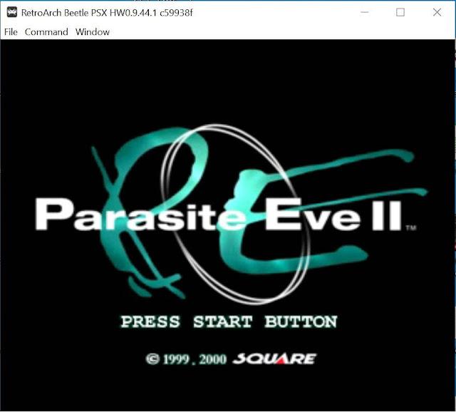 parasite eve 2 retroarch