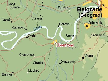 obrenovac srbija mapa Per@ Travel: OBRENOVAC obrenovac srbija mapa