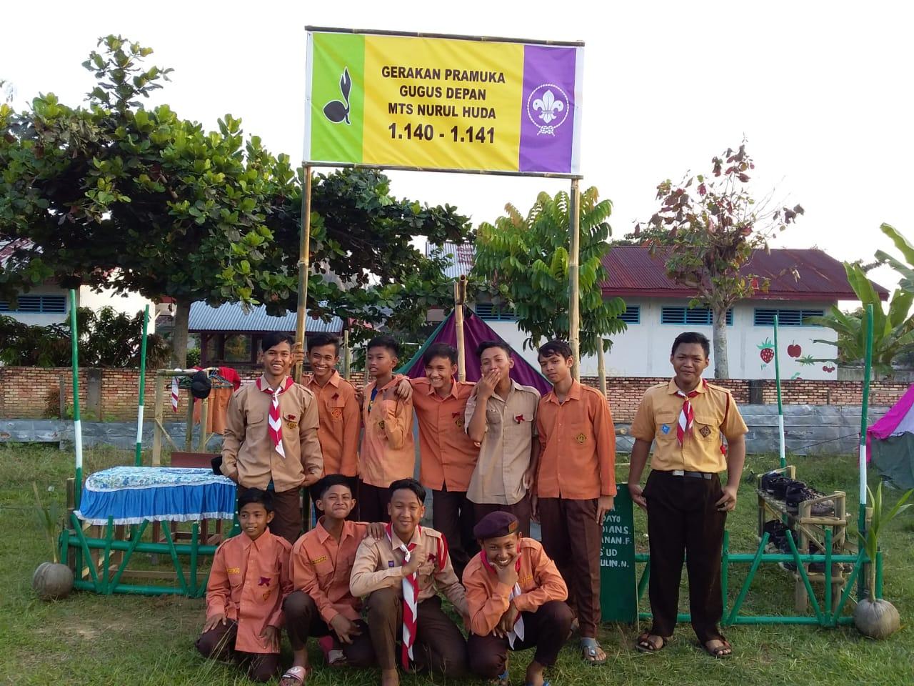 Pramuka MTs Nurul Huda Tandun Bawa Piala Juara I di Perjusami SMAN 2 Tandun Tahun 2019