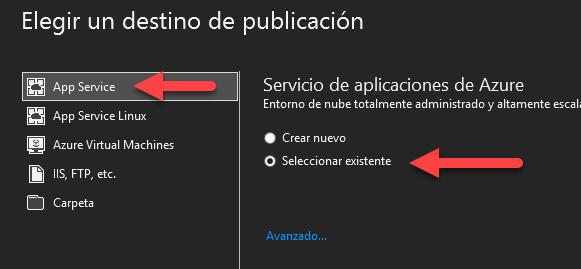 Publicar aplicación