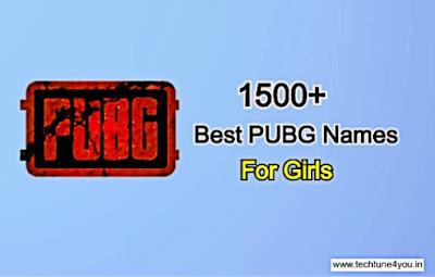 PUBG Name Ideas for Girl, PUBG Names for girls