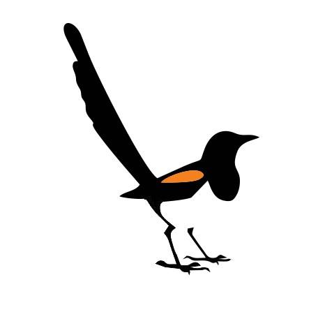 business logo design bird standing