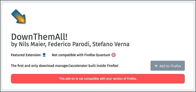 Come funzionavano le estensioni di Firefox legacy