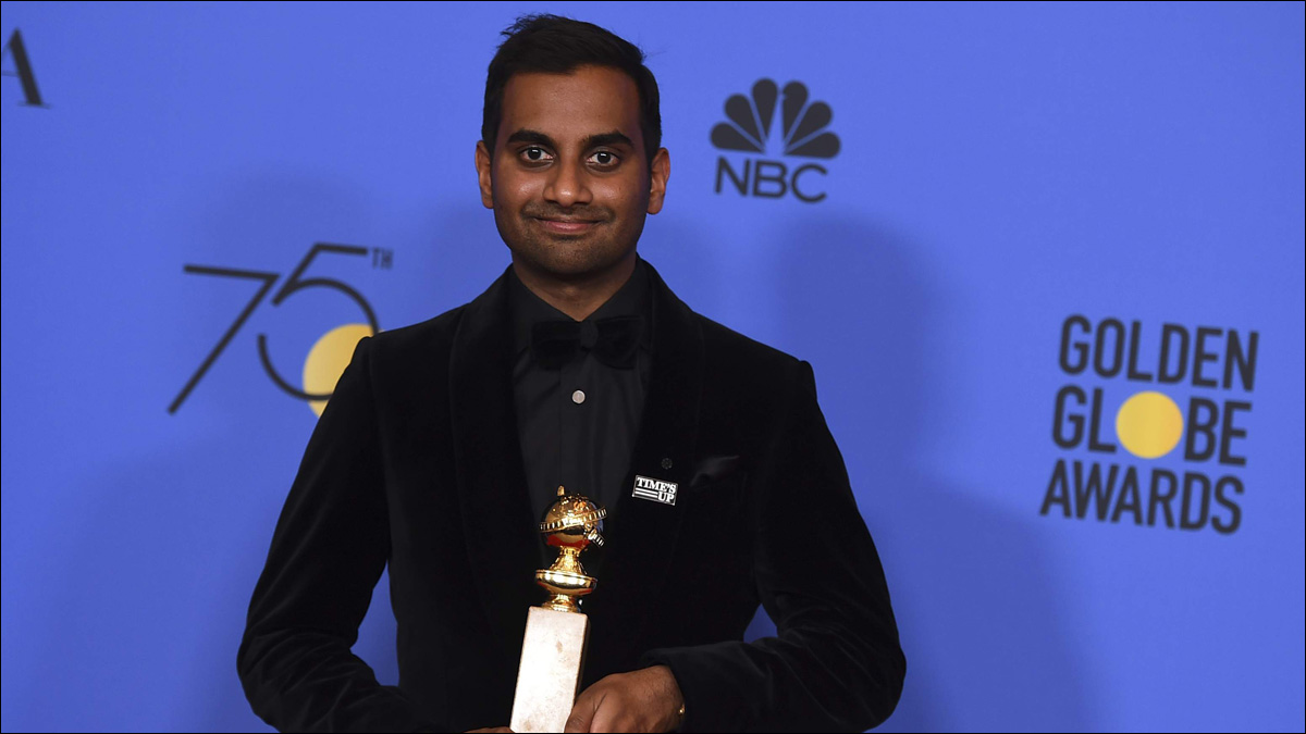 Aziz Ansari makes history with Golden Globe win