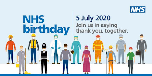 NHS Birthday 5 pm on the 5th July