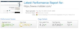 قياس سرعة تحميل المدونة بإستخدام موقع Gt Metrics :