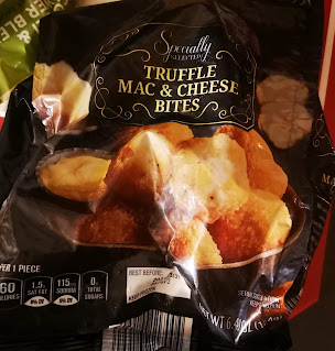 Opened bag of Specially Selected Truffle Mac and Cheese Bites, from Aldi