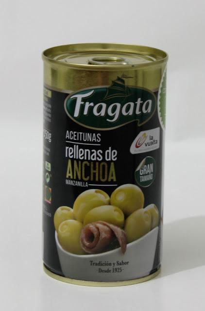 Aceitunas rellenas de Anchoa Fragata