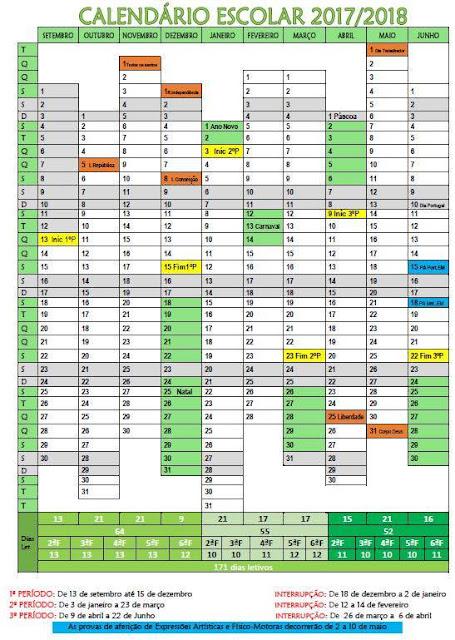 Resultado de imagem para calendário escolar 2017
