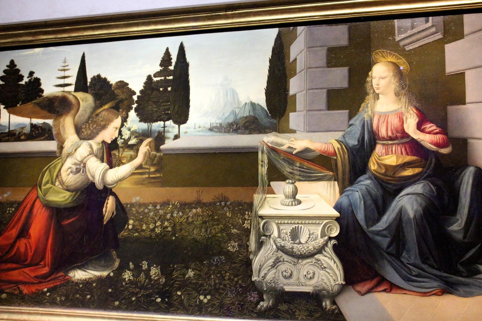 Annunciazione, Leonardo Da Vinci, Uffizi,Firenze