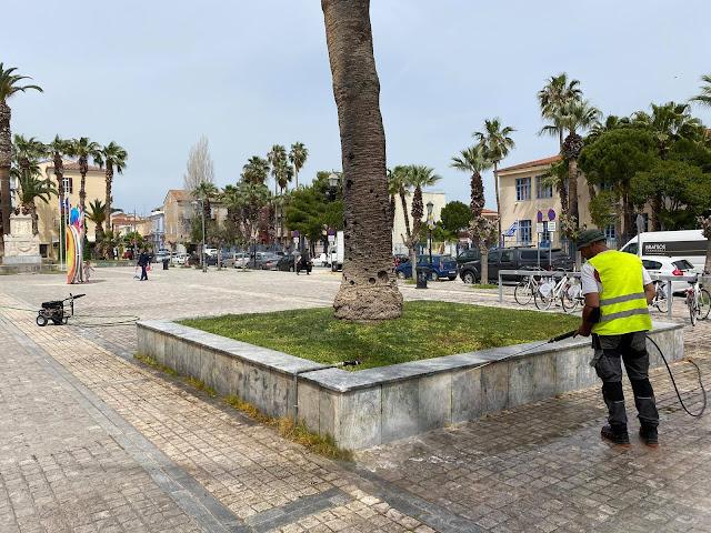 Εργασίες συντήρησης και καθαρισμού στο Ναύπλιο