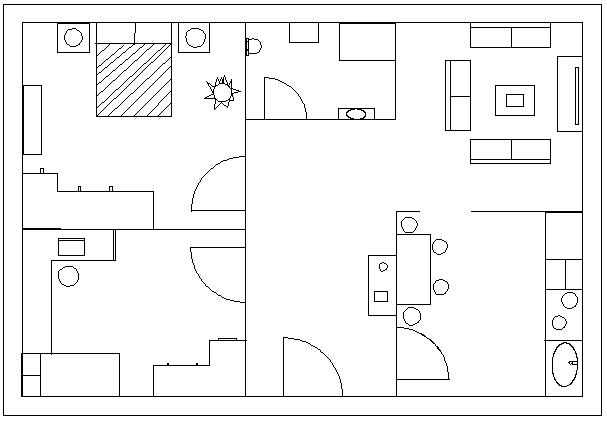 planos de casas qcad