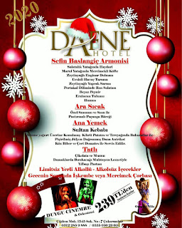 Dafne Hotel Ankara Yılbaşı Programı 2020 Menüsü