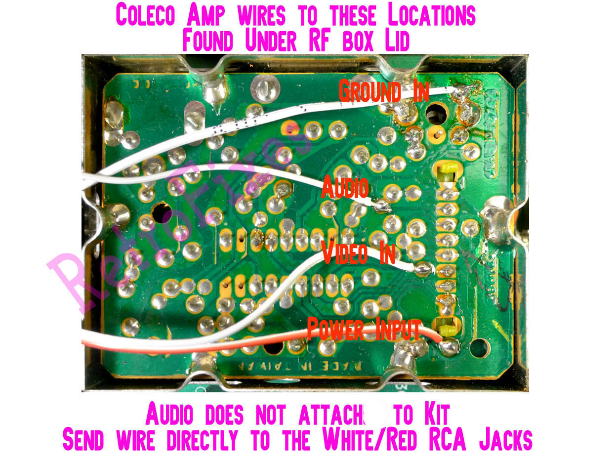 now solder wires as shown below these wires are for the input side of the amp kit  [ 1245 x 931 Pixel ]