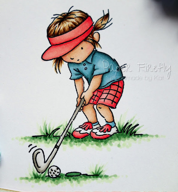 Little golf girl card (image from LOTV)
