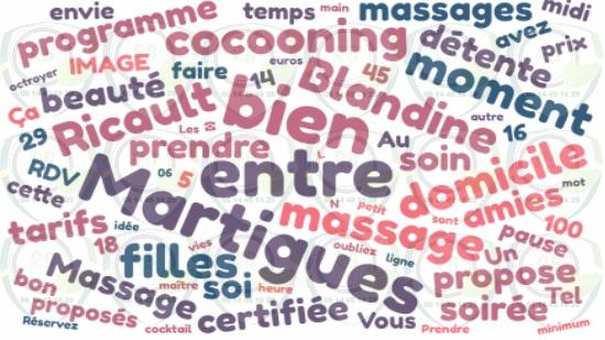 Massage à domicile entre copines à Martigues;