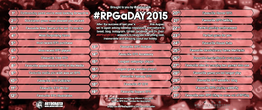 #RPGaDAY2015 This August - It is Happening Again!