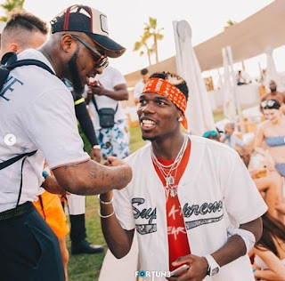Davido Spotted Partying With Man U Star, Paul Pogba In Dubai (Photos)